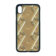 Gold Background 3d Iphone Xr Seamless Case (black)