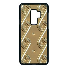 Gold Background 3d Samsung Galaxy S9 Plus Seamless Case(black)