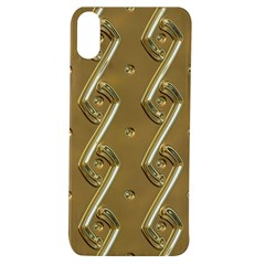 Gold Background 3d Apple Iphone Xs Tpu Uv Case
