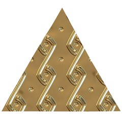 Gold Background 3d Wooden Puzzle Triangle