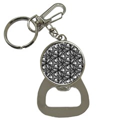 Fabric Pattern Sunflower Bottle Opener Key Chain