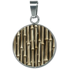 Bamboo Grass 20mm Round Necklace