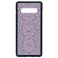 Baroque Pearls And Fauna Ornate Mandala Samsung Galaxy S10 Plus Seamless Case (black)
