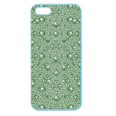 Baroque Green Pearls Ornate Bohemian Apple Seamless Iphone 5 Case (color)