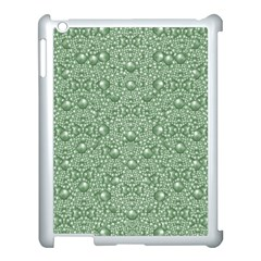 Baroque Green Pearls Ornate Bohemian Apple Ipad 3/4 Case (white) by pepitasart