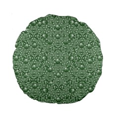 Baroque Green Pearls Ornate Bohemian Standard 15  Premium Round Cushions by pepitasart