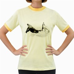 Blue Whale Women s Fitted Ringer T Shirt by goljakoff