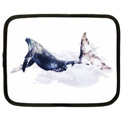 Blue Whale Netbook Case (large) by goljakoff