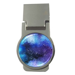 Blue Space Money Clips (round)