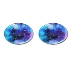 Blue Space Cufflinks (oval)