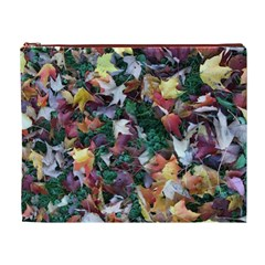 Scattered Leaves Cosmetic Bag (xl)
