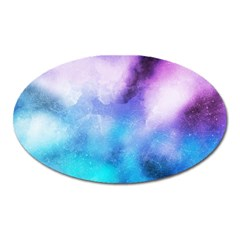 Blue Metal Paint Oval Magnet