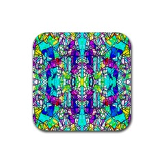 Colorful 60 Rubber Square Coaster (4 pack)