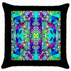 Colorful 60 Throw Pillow Case (Black)