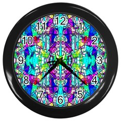 Colorful 60 Wall Clock (Black)
