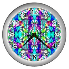 Colorful 60 Wall Clock (Silver)