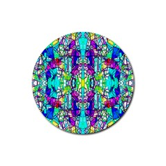 Colorful 60 Rubber Coaster (Round)