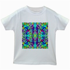 Colorful 60 Kids White T-Shirts
