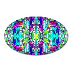 Colorful 60 Oval Magnet