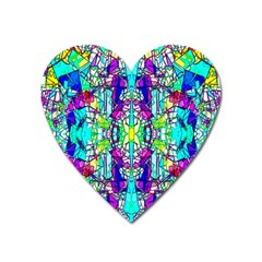 Colorful 60 Heart Magnet