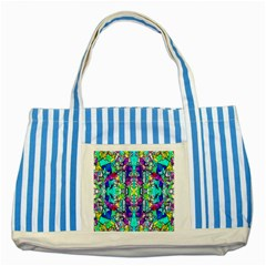 Colorful 60 Striped Blue Tote Bag