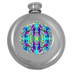 Colorful 60 Round Hip Flask (5 oz)