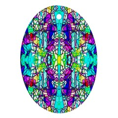 Colorful 60 Oval Ornament (Two Sides)
