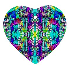 Colorful 60 Heart Ornament (Two Sides)