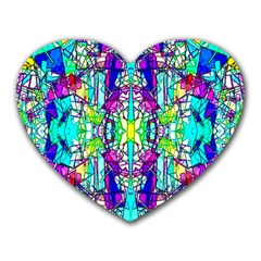 Colorful 60 Heart Mousepads