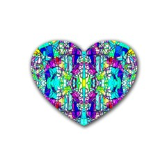 Colorful 60 Heart Coaster (4 pack)