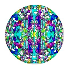 Colorful 60 Round Filigree Ornament (Two Sides)
