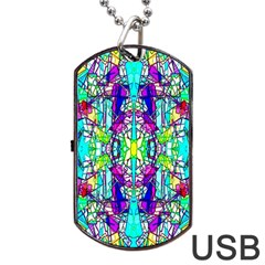 Colorful 60 Dog Tag USB Flash (Two Sides)
