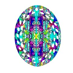 Colorful 60 Oval Filigree Ornament (Two Sides)