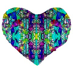 Colorful 60 Large 19  Premium Heart Shape Cushions