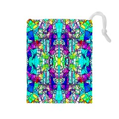 Colorful 60 Drawstring Pouch (Large)