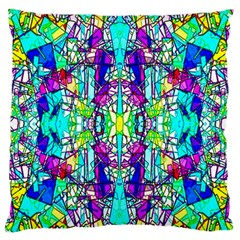 Colorful 60 Large Flano Cushion Case (Two Sides)