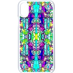 Colorful 60 iPhone XS Seamless Case (White)