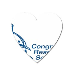 Logo Of Congressional Research Service Heart Magnet by abbeyz71
