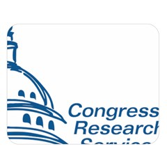 Logo Of Congressional Research Service Double Sided Flano Blanket (large)