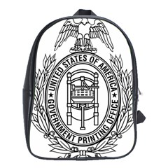 Official Seal Of United States Government Publishing Office School Bag (xl) by abbeyz71