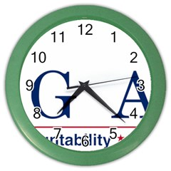 Logo Of United States Government Accountability Office Color Wall Clock by abbeyz71