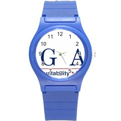 Logo Of United States Government Accountability Office Round Plastic Sport Watch (s) by abbeyz71