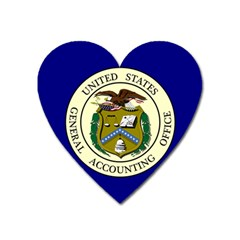 Flag Of United States General Accounting Office, 1921 2004 Heart Magnet by abbeyz71