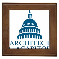 Logo Of United States Architect Of The Capitol Framed Tile by abbeyz71