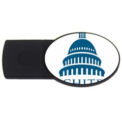 Logo Of United States Architect Of The Capitol Usb Flash Drive Oval (2 Gb) by abbeyz71