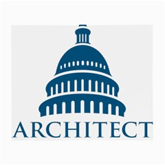 Logo Of United States Architect Of The Capitol Small Glasses Cloth (2 Sides) by abbeyz71