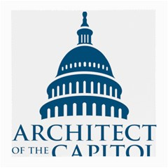 Logo Of United States Architect Of The Capitol Medium Glasses Cloth by abbeyz71