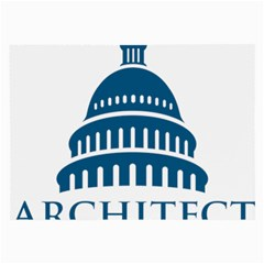 Logo Of United States Architect Of The Capitol Large Glasses Cloth by abbeyz71