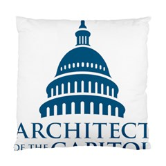 Logo Of United States Architect Of The Capitol Standard Cushion Case (one Side) by abbeyz71