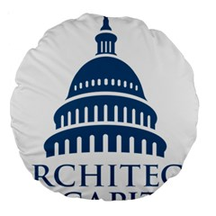 Logo Of United States Architect Of The Capitol Large 18  Premium Round Cushions by abbeyz71